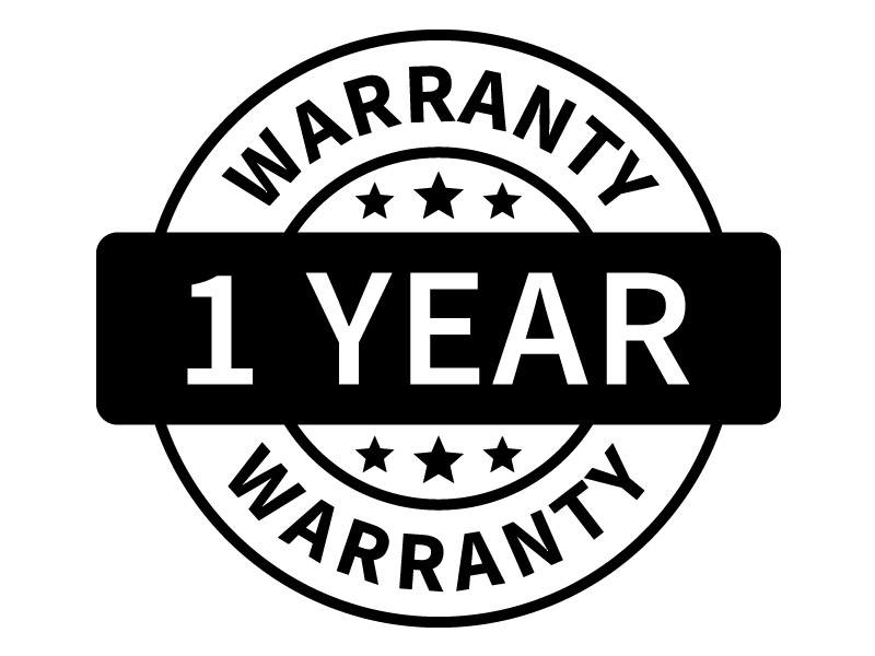 1 Year Warranty with all our products
